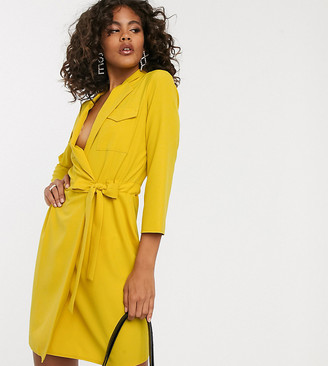 Asos Tall DESIGN Tall utility mini tux dress