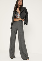Missguided Tall Exclusive Silver Palazzo Trousers