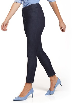 New York & Co. Petite Audrey High-Waisted Denim Ankle Pant