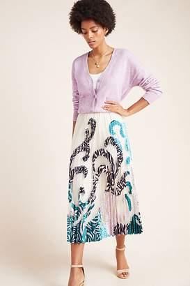 Geisha Designs Rochelle Pleated-Applique Maxi Skirt