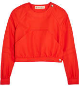 Marni Cropped Twill Top - Red