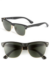 Ray-Ban Women's 'Highstreet' 57Mm Sunglasses - Demi Black/ Green Solid