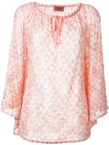 Missoni bow detail neck blouse