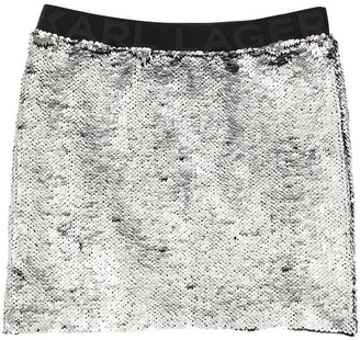 Karl Lagerfeld Paris Sequined Techno Skirt