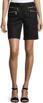 MICHAEL Michael Kors Zip-Pocket Bermuda Shorts, Black