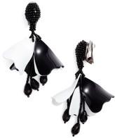 Oscar de la Renta Women's Small Impatiens Flower Drop Clip Earrings