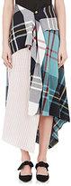 J.W.Anderson Women's Plaid & Striped Asymmetric Skirt