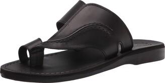 Jerusalem Sandals Peter - Leather Toe Strap Sandal - Mens Sandals Brown