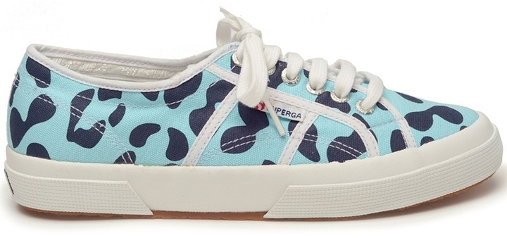 House of Holland Superga 2750 leopard spot trainers