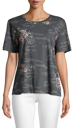 Monrow Camo Rose Graphic T-Shirt