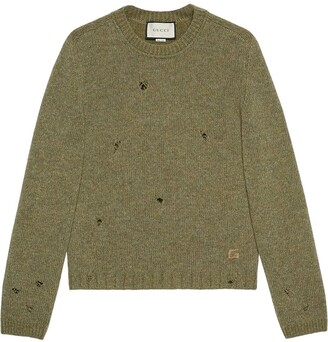 Gucci square G felted wool jumper