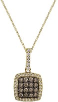 Effy Jewelry Effy Espresso 14K Yellow Gold Cognac and White Diamond Pendant, .58 TCW