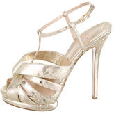 Nicholas Kirkwood Metallic Lace Multistrap Sandals
