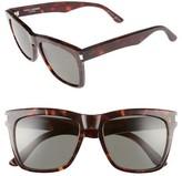 Saint Laurent Women's Devon 55Mm Sunglasses - Black/ Grey