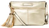 Kathy Ireland Gold Tassel Crossbody Bag