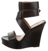 Givenchy Leather Wedge Sandals