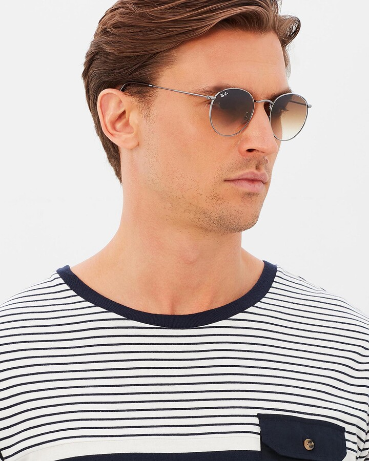 Thumbnail for your product : Ray-Ban Brown Retro - Round Metal RB3447 - Size One Size at The Iconic