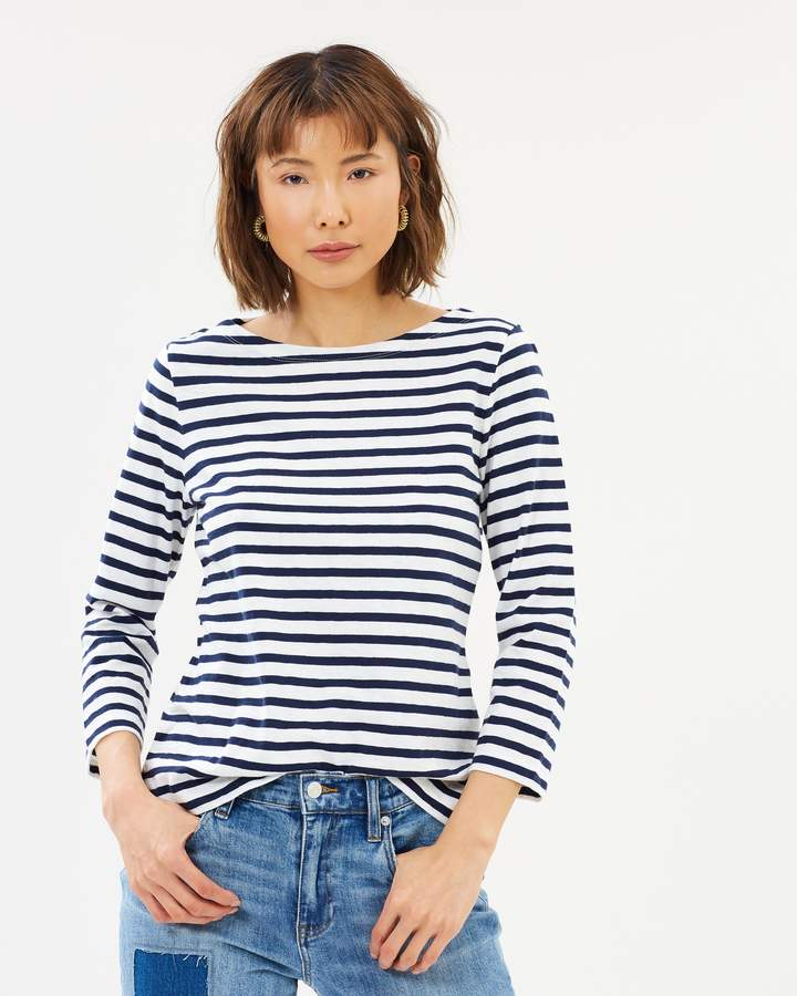 J.Crew Striped Boat Neck T-Shirt