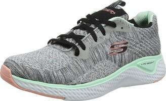 Skechers SOLAR FUSE-BRISK ESCAPE Women's Low-Top Trainers Grey (Gray Knit Mesh/Black Pink & Mint Trim Gymt) 5.5 UK (38.5 EU)