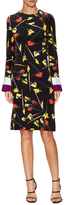 Emilio Pucci Silk Cut Out Knee Length Dress