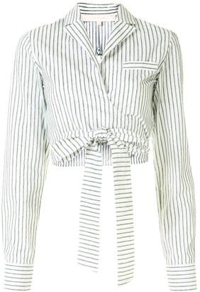 By Any Other Name Stripe Cropped Shirt
