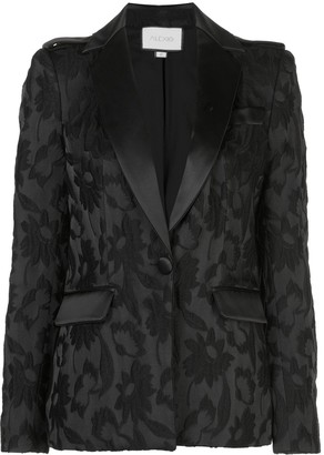 Alexis Floral-Embroidered Blazer