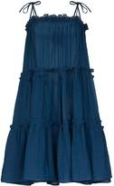 Lisa Marie Fernandez Ruffled Peasant Dress