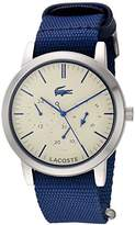 Lacoste Women's 'Metro' Quartz Stainless Steel and Nylon Automatic Watch, Color:Blue (Model: 2010875)