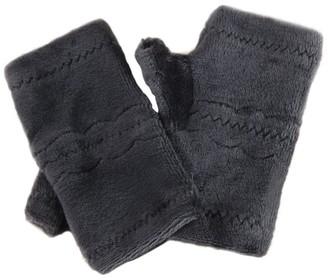 SSMENG Women Fingerless Gloves Clearance Winter Autumn Thick Warm Gloves Keyboard Leak Finger Gloves(Brown Free Size)