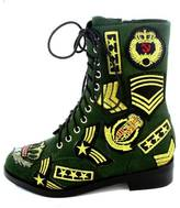 Jeffrey Campbell Dunlop Military Patches Boot