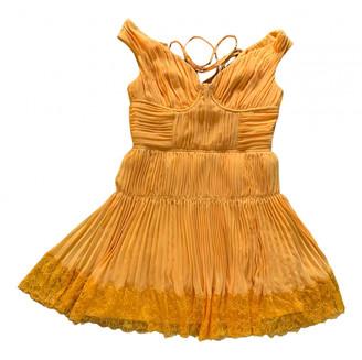 Self-Portrait Orange Synthetic Dresses