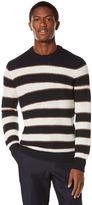 Perry Ellis Engineered Rugby Stripe Crew Sweater