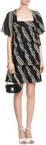 Sonia Rykiel Cotton Diagonal Stripe Dress