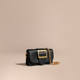 Burberry The Mini Buckle Bag in Grainy Leather