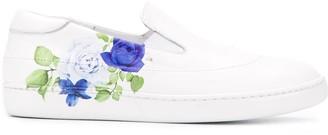 Mr & Mrs Italy Rose-Print Low-Top Sneakers