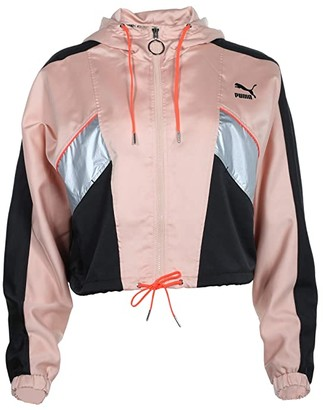 Puma Tailored For Sport Fashion Lux Track Jacket (Pink Sand) Women's Clothing