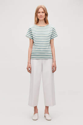 Cos STRIPED BOAT-NECK T-SHIRT