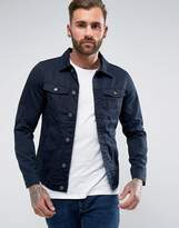 Pull&bear Lightweight Denim Jacket In Navy