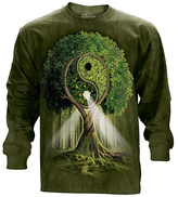 The Mountain Green Ying Yang Tree Long-Sleeve Tee - Unisex