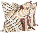 One Kings Lane Vintage Rust Ferns Uni Pillows - Set of 2