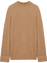 The Row Angel Oversized Ribbed Cashmere And Silk-blend Sweater - Tan