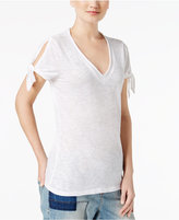 INC International Concepts Cotton Tie-Sleeve T-Shirt, Created for Macy's