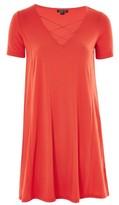 Topshop Lattice Front Swing Dress