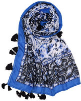 Lord & Taylor Paisley Tassel trim Square Scarf