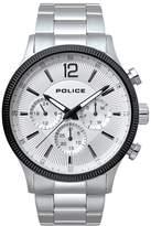 Police Men's White Dial Stainless Steel Bracelet Watch