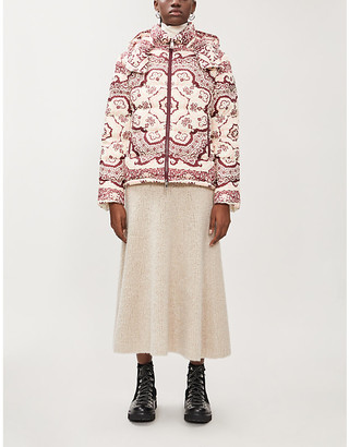 Moncler Turquin graphic-print padded shell-down jacket