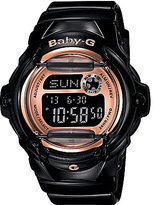 Baby-G Pink Champagne Series Digital Black Resin Ladies Watch