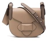 Michael Kors Daria Small Crossbody Saddle Bag in Taupe