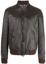 Jacob Cohen leather zip jacket