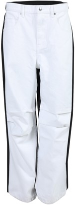 Alexander Wang White And Black Contrast Panel Jeans